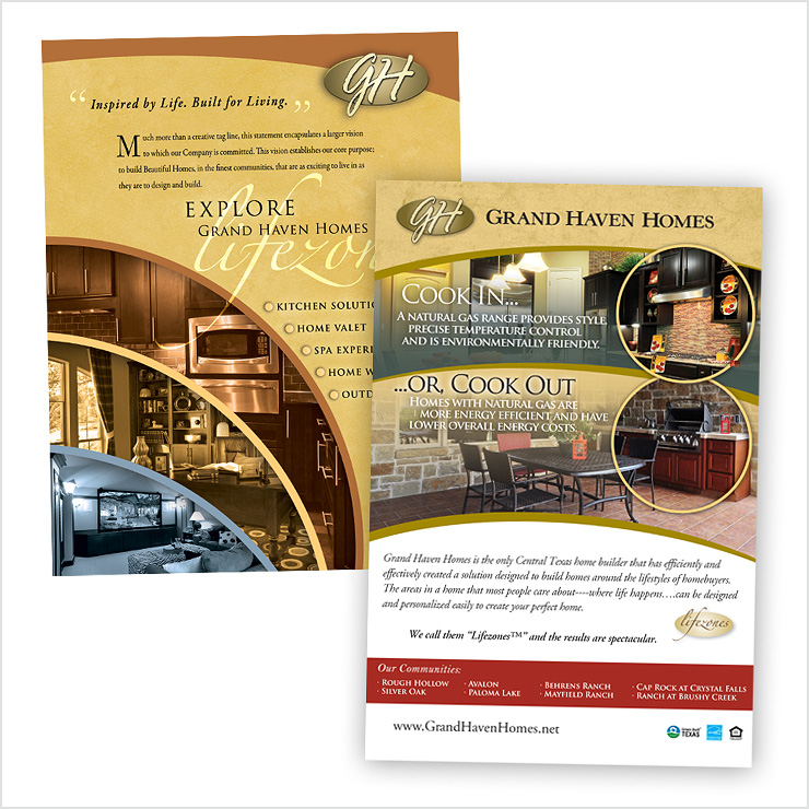 Grand Haven Homes Mailer & Ad Designs