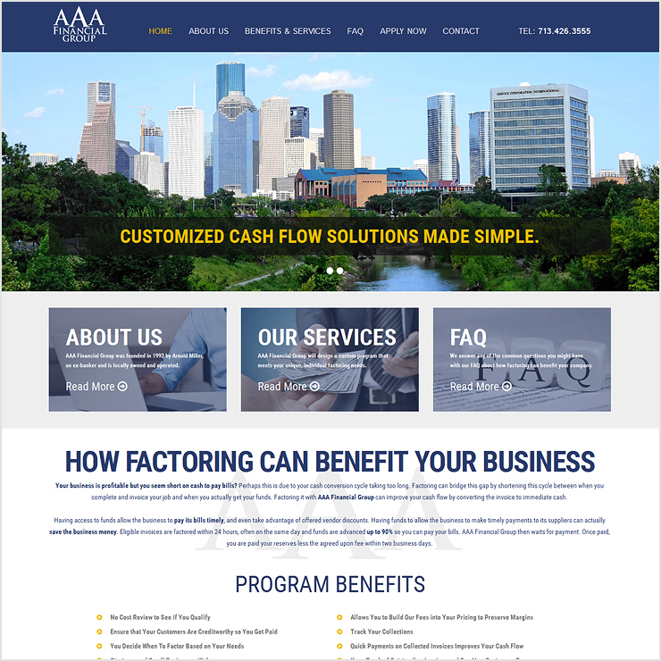 AAA Financial Group Website Design