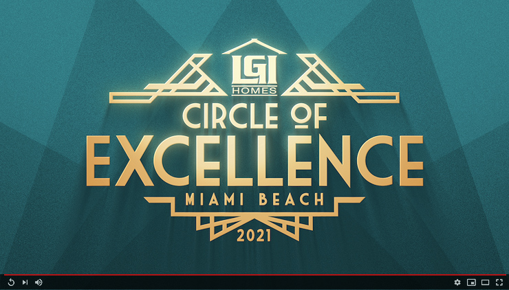 LGI Homes Circle of Excellence 2021