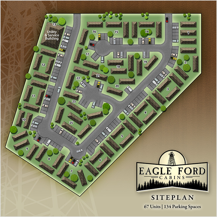 Eagle Ford Cabins Site Plan Design