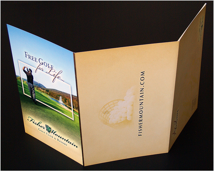 redgiant creative our work print media fisher mountain golf