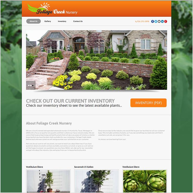 Foliage Creek Nursery Website Design