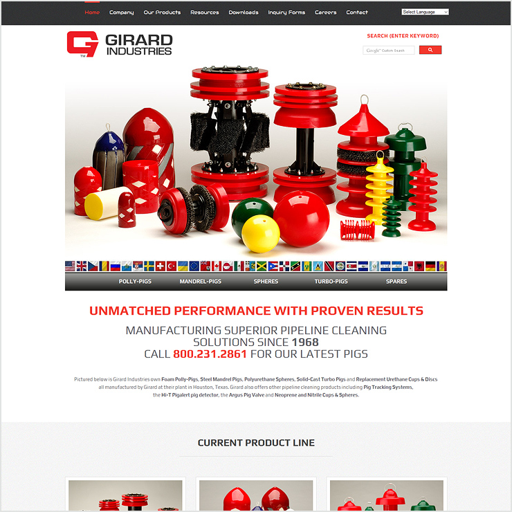 Girard Industries Website Design