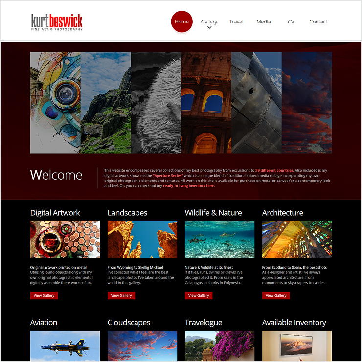 Kurt Beswick Fine Art & Photography Website Design