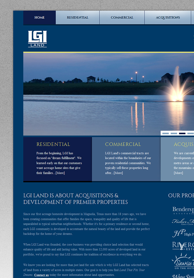 LGI Land Website