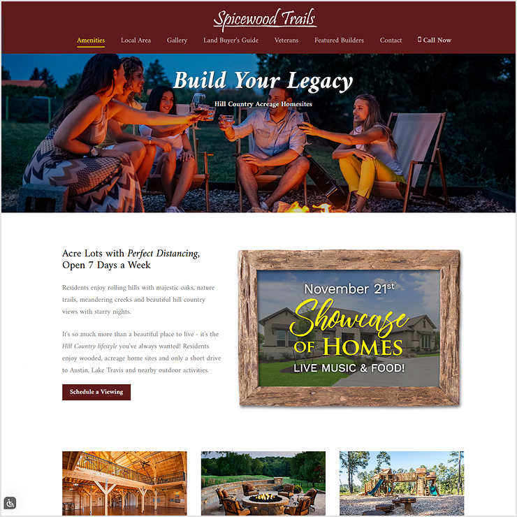 Spicewood Trails Website Design