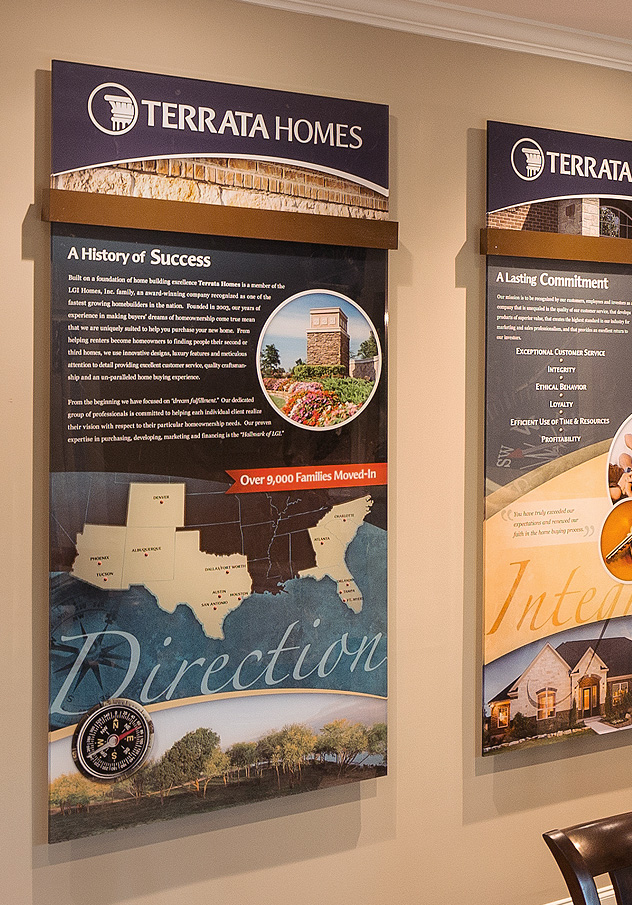 Terrata Homes Sales Center Displays