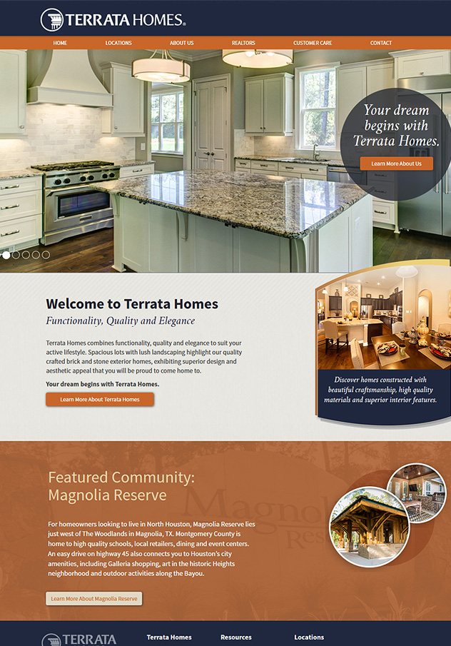 Terrata Homes Website